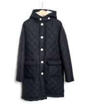 Traditional Weatherwear(トラディショナル ウェザーウェア)の古着「裏ボアキルティングフードコート」|ネイビー