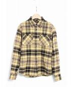 CALEE(キャリー)の古着「ドビーチェックシャツ」|イエロー
