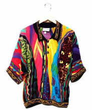 coogi(クージー)の古着「コラージュポロシャツ」|マルチカラー