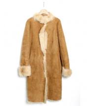 BANANA REPUBLIC(バナナリパブリック)の古着「ムートンコート」|キャメル