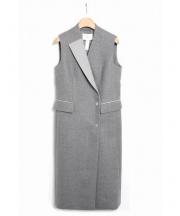 iCB(アイシービー)の古着「ラップワンピースコート」|グレー