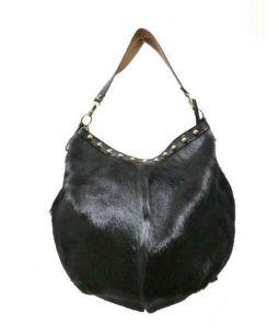 A.D.M.J.(エーディーエムジェイ)の古着「ハラコハンドバッグ」|ブラック