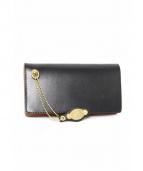 CALEE(キャリー)の古着「レザー長財布」|ブラック
