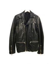 BLUE WORK(ブルーワーク)の古着「ダブルライダースジャケット」|ブラック