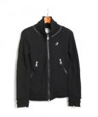 Francis T MOR.K.S(フランシストモークス)の古着「ジップアップスウェット」|ブラック