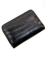 CHEMBUR(チェンバー)の古着「型押しラウンドファスナー財布」|ブラック