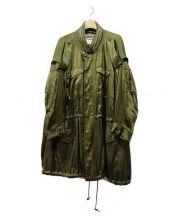 MIHARA YASUHIRO(ミハラヤスヒロ)の古着「ワイドモッズコート」|オリーブ