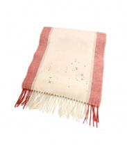 ANTEPRIMA(アンテプリマ)の古着「ラインストーンカシミアストール」|ピンク