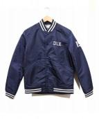 DELUXE(デラックス)の古着「ナイロンスタジャン」|ネイビー