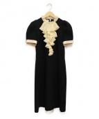 GUCCI(グッチ)の古着「ジャージーフリルワンピース」|ブラック