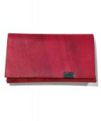 Shosa(ショサ)の古着「オイルヌバックコインケース」|レッド