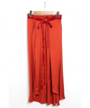 styling kei shirahata(スタイリングケイシラハタ)の古着「Heme Flare Skirt」|オレンジ
