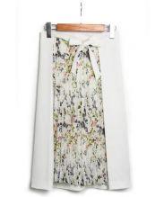 TONAL(トーナル)の古着「バードフラワーアシメプリーツスカート」|ホワイト