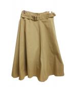 DES PRES(デ・プレ)の古着「コットンチノベルテッドフレアスカート」