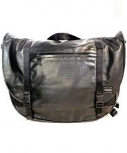 PORTER(ポーター)の古着「レザーメッセンジャーバッグ」|ブラック