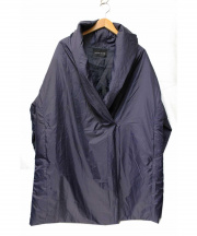 mizuiro-ind(ミズイロインド)の古着「ドレープカラー中綿シンサレートコート」|ネイビー