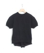 sacai(サカイ)の古着「半袖切替スウェット」 ブラック