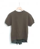 sacai(サカイ)の古着「半袖スウェット」|オリーブ