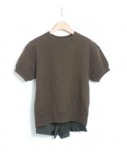 sacai(サカイ)の古着「半袖スウェット」 オリーブ