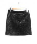 BALENCIAGA(バレンシアガ)の古着「ストレッチショートスカート」|ブラック