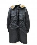 DIESEL(ディーゼル)の古着「コーティングモッズコート」 ブラック