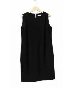 m's select(エムズセレクト)の古着「タックノースリーブワンピース」|ブラック