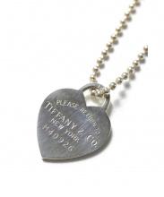Tiffany&Co.(ティファニーアンドコー)の古着「ハートプレートボールチェーンネックレス」