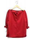 FONCE(フォンセ)の古着「袖バックルブラウス」|レッド