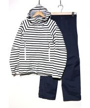 HELLY HANSEN(ヘリーハンセン)の古着「スカンザツリーレインスーツ」|ホワイト×ネイビー