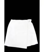 CARVEN(カルヴェン)の古着「ラップスカート」|ホワイト