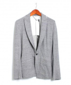VADEL(バデル)の古着「鹿の子ジャージジャケット」|ライトグレー