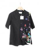 JUN OKAMOTO(ジュンオカモト)の古着「昼と夜のアロハシャツ」|ブラック