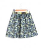 MSGM(エムエスジーエム)の古着「花柄スカート」|ブルー