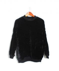 DISCOVERED(ディスカバード)の古着「ベロアスカタイププルオーバーブルゾン」|ブラック