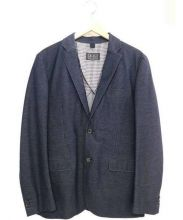 BLUE WORK(ブルーワーク)の古着「メランジインレイテーラードジャケット」|ネイビー