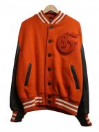 GBSPORTS(ジービースポーツ)の古着「袖レザースタジャン」