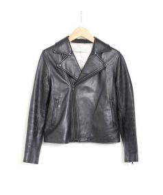 Midi-Umi(ミディウミ)の古着「シープスキンライダースジャケット」 ブラック