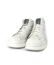 adidas by rick owens(アディダスbyリックオウエンス)の古着「ハイカットスニーカー」|アイボリー