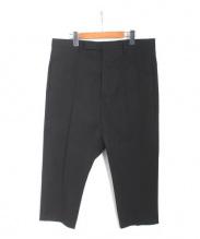 RICK OWENS(リックオウエンス)の古着「EXTREME CROPPED/パンツ」|ブラック