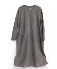 45R(45アール)の古着「グレンチェックワンピース」|ブラウン