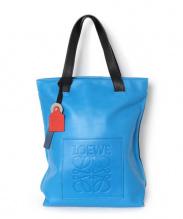 LOEWE(ロエベ)の古着「バイカラーレザートートバッグ」|ブルー