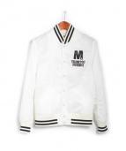 M(エム)の古着「nylon stadium jacket」|アイボリー×ブラック