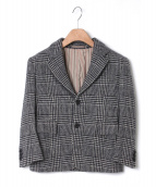 Scye(サイ)の古着「グレンチェック柄ウールジャケット」|ホワイト×ブラック