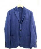 MONTEDORO(モンテドーロ)の古着「綿麻テーラードジャケット」|ネイビー