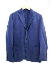 MONTEDORO(モンテドーロ)の古着「綿麻テーラードジャケット」 ネイビー