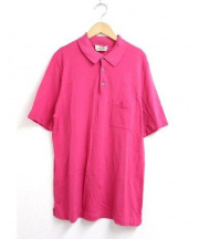 HERMES(エルメス)の古着「Hロゴポロシャツ」 ピンク