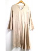 ROPE mademoiselle(ロペマドモアゼル)の古着「アシメヘムカルゼワンピース」|ベージュ