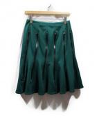 JUNYA WATANABE COMME des GARCONS(ジュンヤワタナベ コムデギャルソン)の古着「ジップデザインフレアスカート」|グリーン