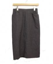 HERMES(エルメス)の古着「タイトスカート/タックペンシルスカート」|グレー