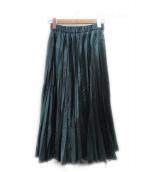UN3D.(アンスリード)の古着「グロッシープリーツスカート」 グリーン